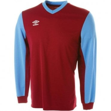 WITTON JERSEY LS Marroon and Blue