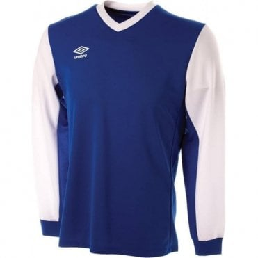 WITTON JERSEY LS White and Blue