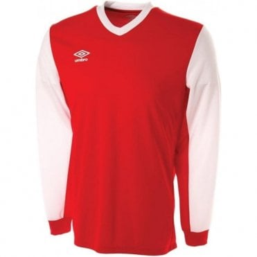 WITTON JERSEY LS White and Red