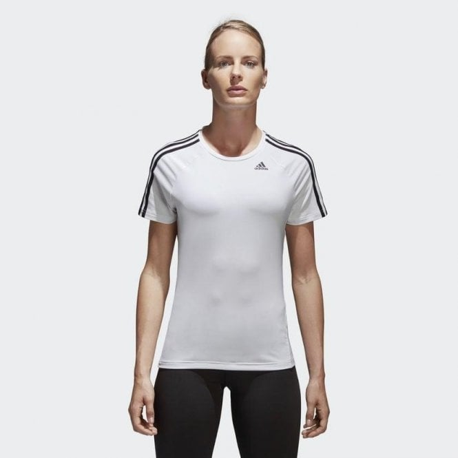 Adidas Women's Designed 2 Move 3 Stripes Tee