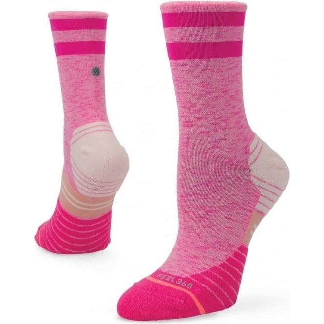 Stance Women's Distance Crew Running Sock Pink