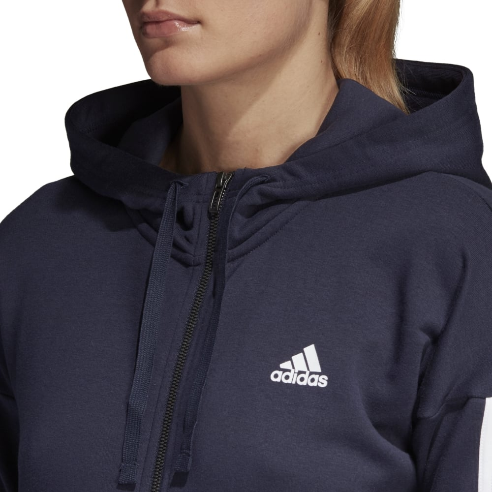 0505721a6 adidas Women's Essentials 3 Stripes Full Zip Hoodie | BMC Sports