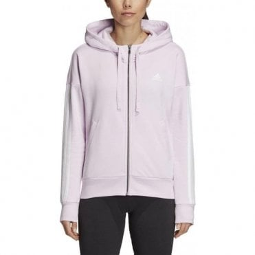 Women's Essentials 3 Stripes Full Zip Hoodie