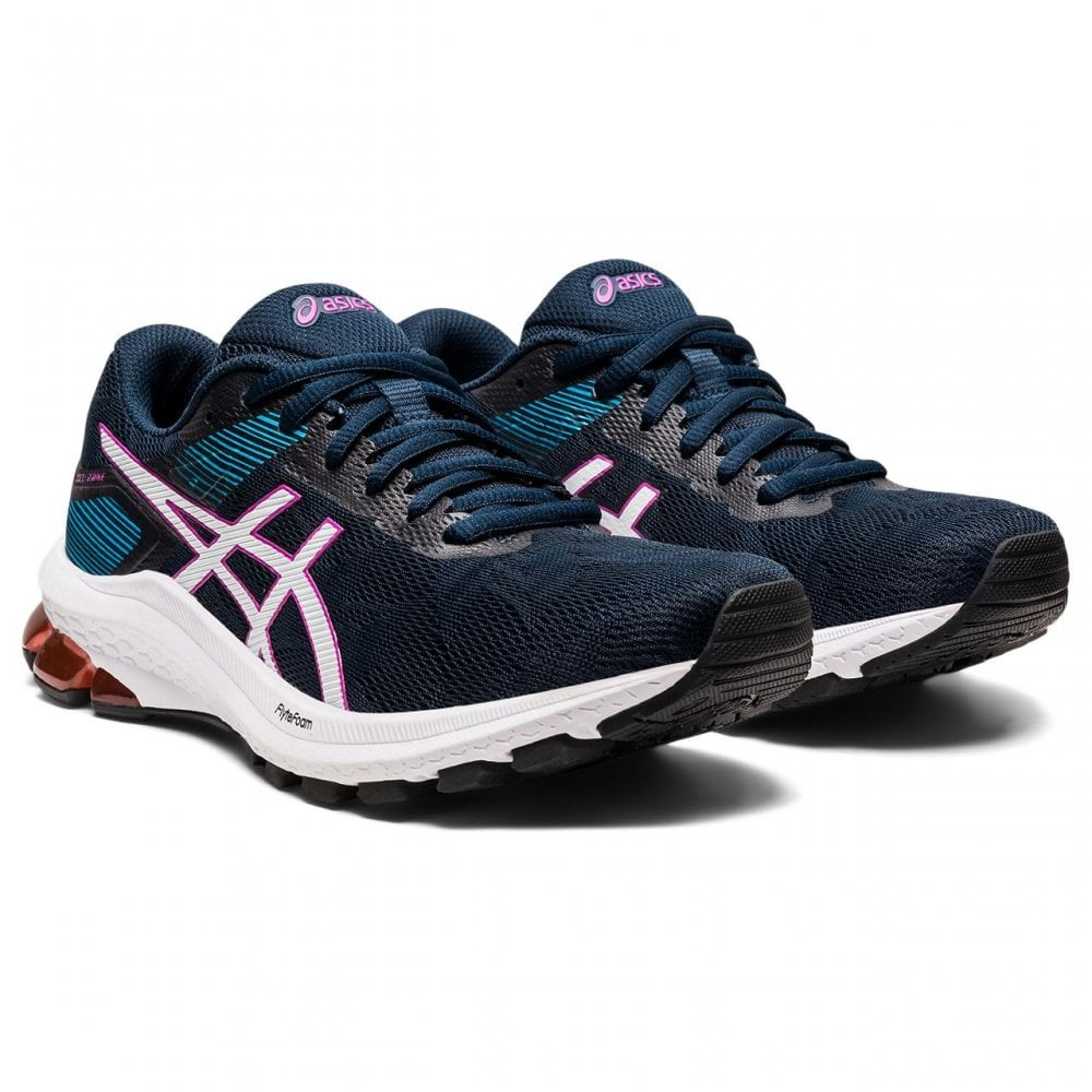 Asics Womens Gel Zone 8 Navy Running Shoes   BMC Sports