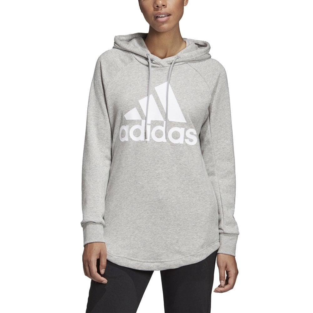 Adidas Women's Sports ID Overhead Hoodie Grey
