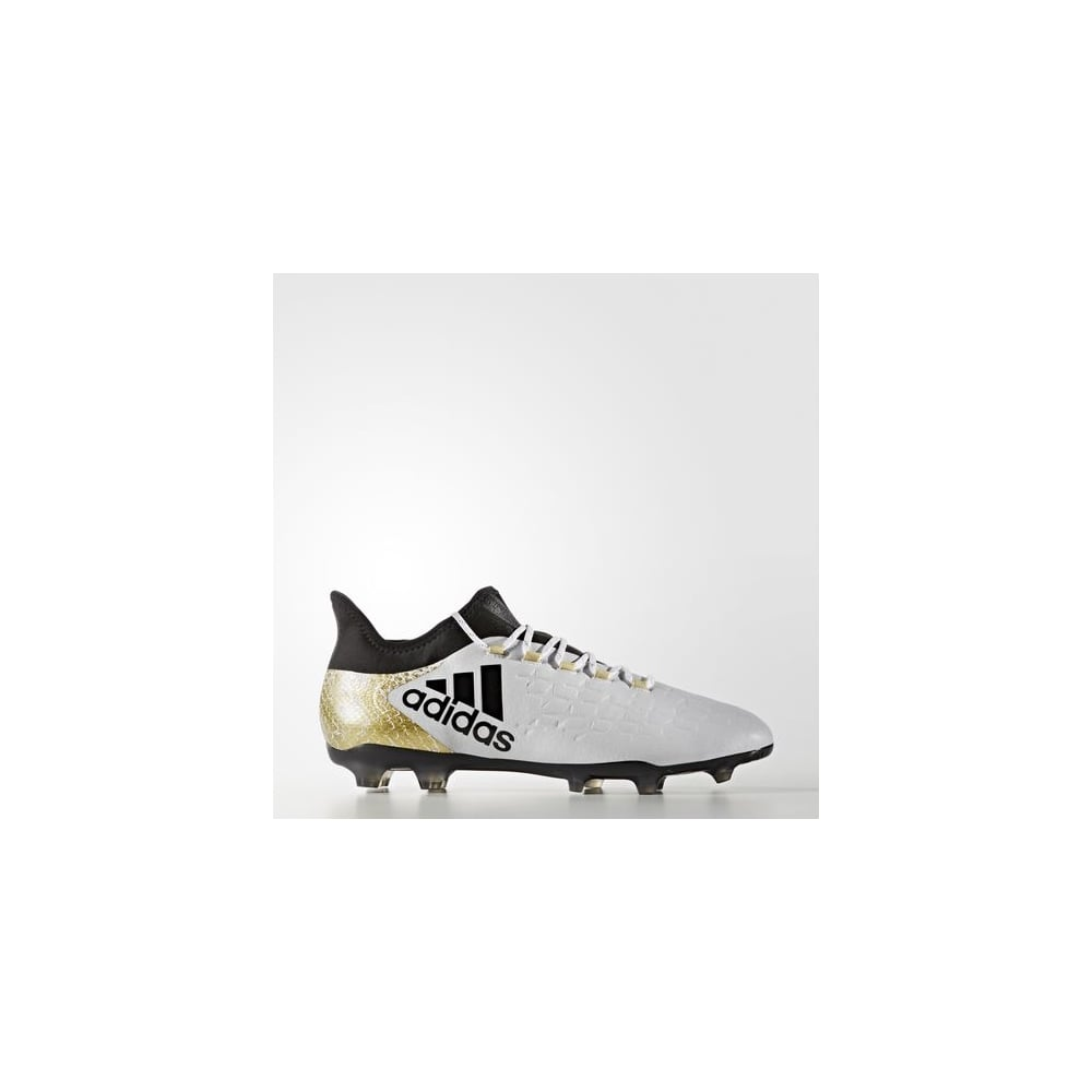 Adidas X 16.2 Firm Ground Boots White Gold 87508a1fd5ea